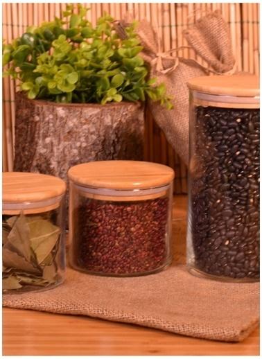Bambum Bambum Melis 3'lü Cam Saklama Kabı Renksiz